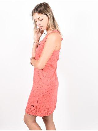 Alife and Kickin CAMERONAK CORAL krátké letní šaty - červená