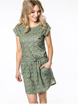 Alife and Kickin THEAAK DUST krátké letní šaty - zelená