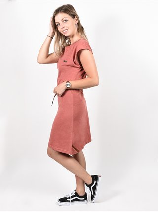Alife and Kickin ELLIAK Mahagonium krátké letní šaty - červená