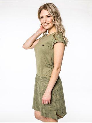 Alife and Kickin SHANNAAK DUST krátké letní šaty - zelená