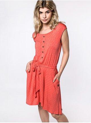 Alife and Kickin SCARLETTAK CORAL krátké letní šaty - červená