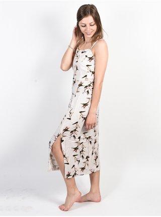 RVCA FANCY THAT PUMICE STONE dlouhé letní šaty - béžová