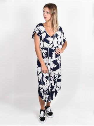 Roxy FLAMINGO SHADES MOOD INDIGO FLYING FLOWERS dlouhé letní šaty - modrá