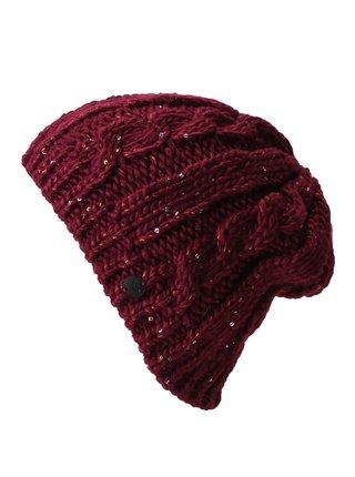 Roxy GLACIALIS BEET RED dámská čepice - červená