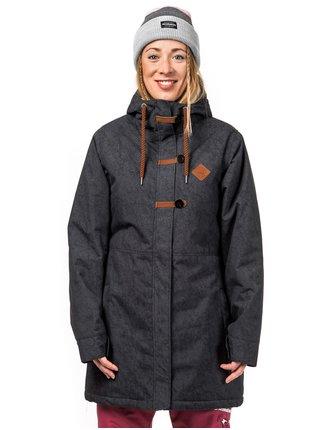 Horsefeathers ALVA space black zimní dámská bunda - černá