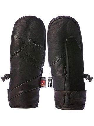 ROJO  LEATHER MITT TRUE BLACK zimní prstové rukavice - černá