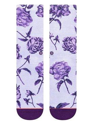 Stance REBEL ROSE CREW PURPLE dámské ponožky - fialová