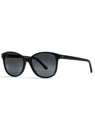Horsefeathers CHLOE matt black/gray fade out sluneční brýle pilotky - černá
