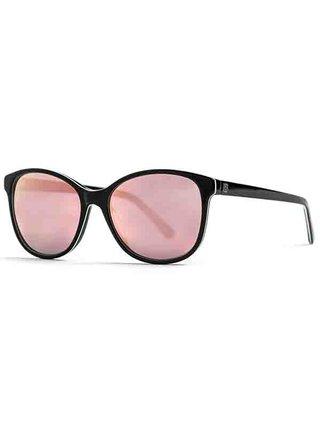 Horsefeathers CHLOE gloss black/mirror rose sluneční brýle pilotky - černá