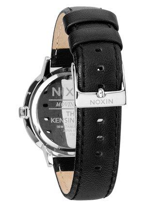 Nixon KENSINGTON LEATHER black analogové sportovní hodinky - černá