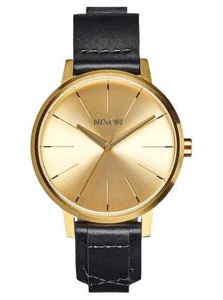 Nixon KENSINGTON LEATHER GOLDBRIDLE analogové sportovní hodinky - černá