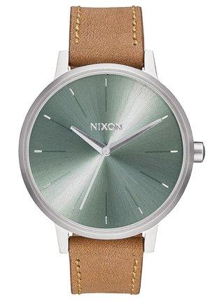 Nixon KENSINGTON LEATHER SADDLESAGE analogové sportovní hodinky