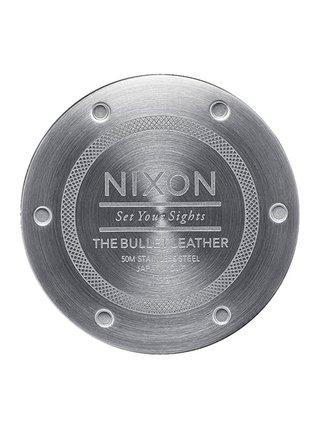 Nixon BULLET LEATHER ROSEGOLDTAUPE analogové sportovní hodinky