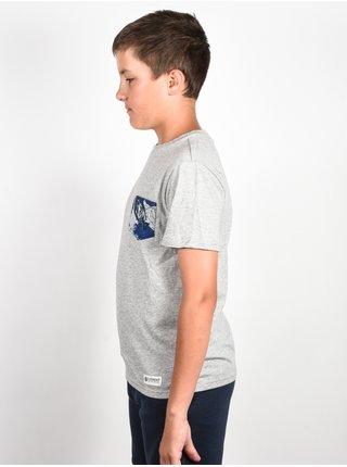 Element VOLSON grey heather dětské triko s krátkým rukávem - šedá