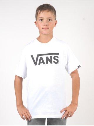 Vans CLASSIC white/black dětské triko s krátkým rukávem - bílá