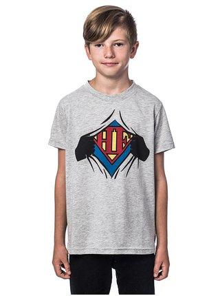 Horsefeathers CLARK ASH dětské triko s krátkým rukávem - šedá