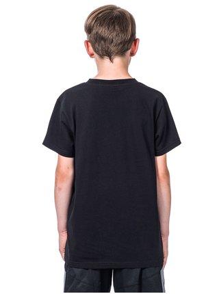 Horsefeathers RAGGED black dětské triko s krátkým rukávem - černá