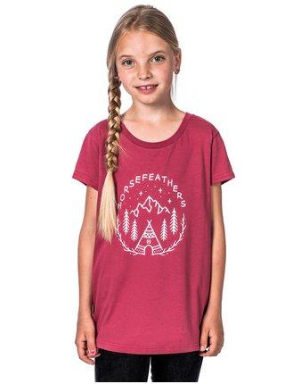 Horsefeathers JOAN garnet rose dětské triko s krátkým rukávem - růžová
