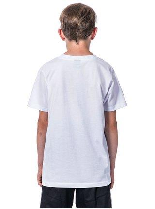 Horsefeathers BRICKS white dětské triko s krátkým rukávem - bílá