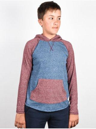 Element BENTON midnight blue dětské triko s dlouhým rukávem - modrá