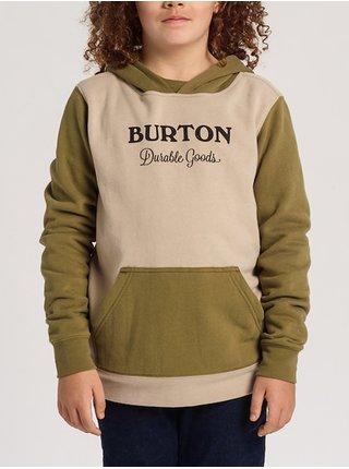 Burton DURABLE GOODS MARTINI OLIVE mikiny přes hlavu dětská - zelená