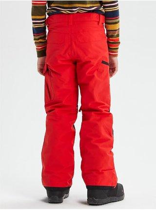 Burton EXILE CARGO FLAME SCARLET dětské zimní kalhoty - červená