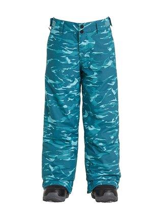 Billabong GROM blue camo dětské zimní kalhoty - modrá