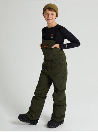 Burton SKYLAR BIB forest night dětské zimní kalhoty - zelená
