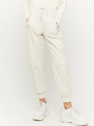 Krémové koženkové kalhoty TALLY WEiJL