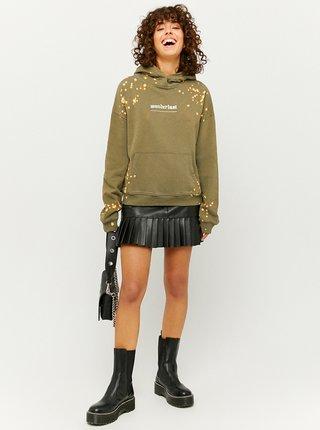 Khaki batikovaná mikina s kapucí TALLY WEiJL
