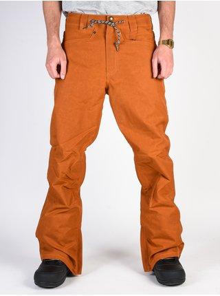 Dc RELAY WAXED LEATHER BROWN lyžařské kalhoty pánské - oranžová