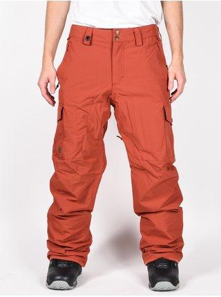 Quiksilver PORTER BARN RED lyžařské kalhoty pánské - červená
