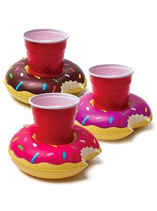 Big Mouth Inc. BEV BOAT DONUTS 3PK nápojová nafukovačka - růžová