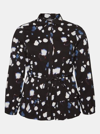Černá vzorovaná košile VERO MODA CURVE