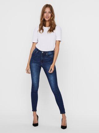 Modré skinny fit džíny VERO MODA