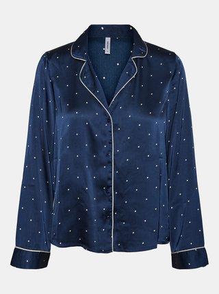 Modré bodkované saténové pyžamo VERO MODA