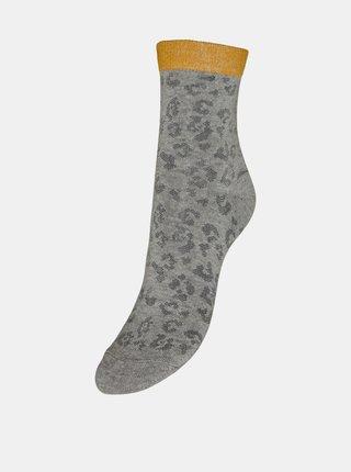 Šedé vzorované ponožky VERO MODA