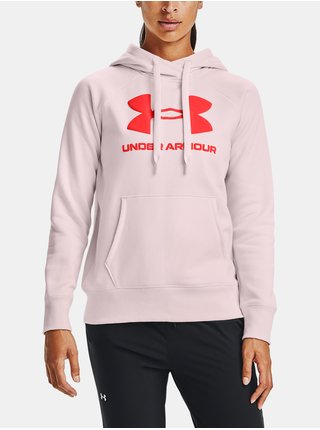Růžová mikina Under Armour Rival Fleece Logo Hoodie