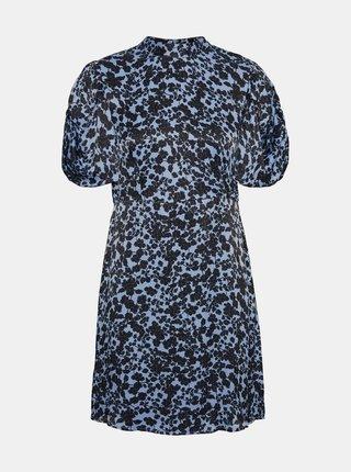 Modré kvetované šaty so stojáčikom VERO MODA