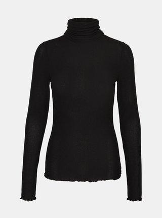 Čierne tričko s rolákom VERO MODA
