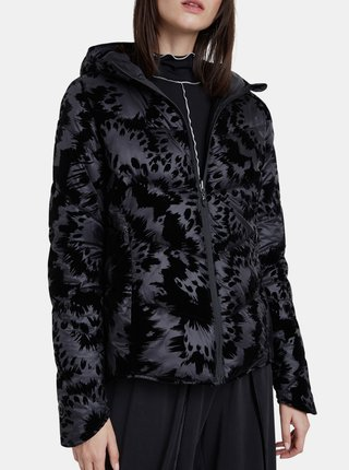 Desigual černá bunda Padded Velur