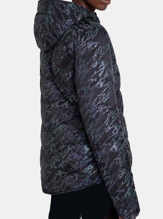 Desigual černá bunda Padded Iridescent