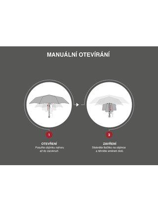 Doppler Dreaming Cats dámský skládací deštník s černými kočkami - Červená