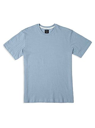 RVCA SEVERIN STRIPE Dusty Blue pánské triko s krátkým rukávem - modrá