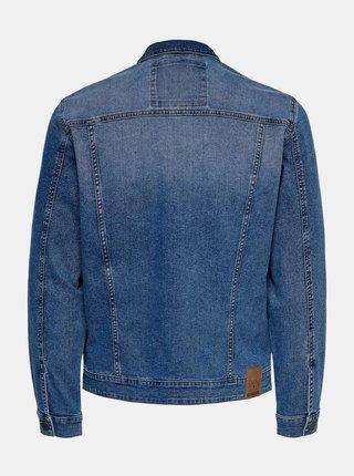 Modrá oversize rifľová bunda ONLY & SONS
