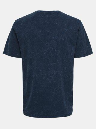 Tmavě modré tričko ONLY & SONS