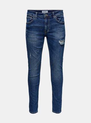 Modré slim fit džíny ONLY & SONS