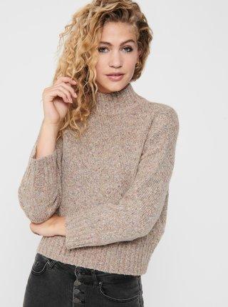 Béžový svetr se stojáčkem ONLY
