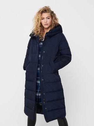 Tmavě modrý zimní prošívaný kabát ONLY