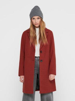 Hnědý kabát ONLY-Natalia